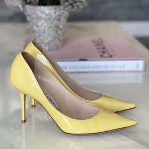 Jimmy Choo Yellow Patent Leather Pumps